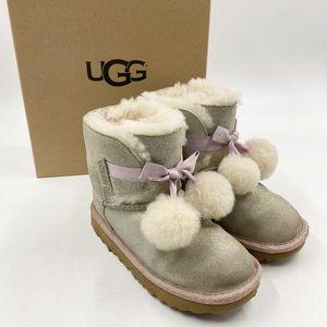 Ugg Gita Boots Girls Size 12 Gold Lilac Metallic